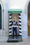 Police on Guard in Lisbon, Portugal Royalty Free Stock Photo