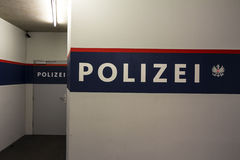 Police guard room in austria Stock Images