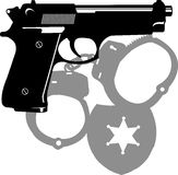 Police gun. Royalty Free Stock Photography