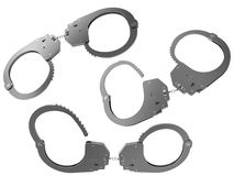 Police handcuffs Royalty Free Stock Photos