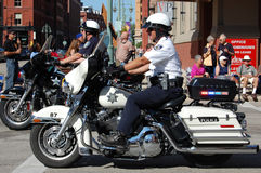 Police on Harley Motorcycles Royalty Free Stock Photos