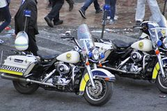 Police Harley motorcycles Stock Photography