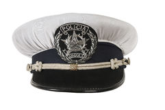 Police hat, of the Angola police officer Stock Photos