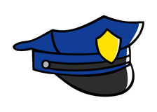 Police Hat. Doodle illustration of a police hat Royalty Free Stock Photography