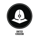 police hat icon. United kingdom design.  graphic Stock Photo