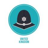 police hat icon. United kingdom design.  graphic Stock Photography