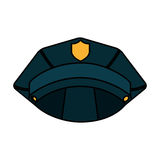 Police hat isolated icon Stock Images