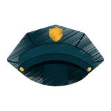 Police hat isolated icon Stock Image