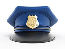 Police hat. Isolated on white background Stock Images