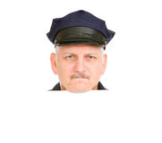 Police Head Angry royalty free stock photography