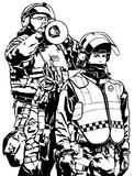 Police Heavy Armor Stock Photography