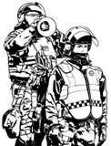 Police Heavy Armor Stock Photography
