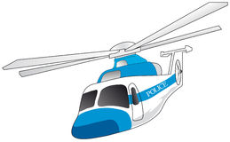 Police helicopter. Vectors illustration shows white police helicopter vector illustration