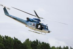 Police helicopter. Royalty Free Stock Images