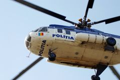 Police helicopter. Identification number removed Royalty Free Stock Photos