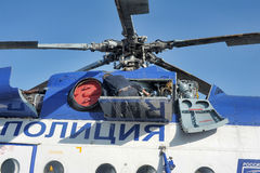 Police helicopter, Russia Stock Image