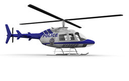 Police Helicopter Side Royalty Free Stock Image