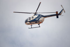Police Helicopter in Spain Stock Image