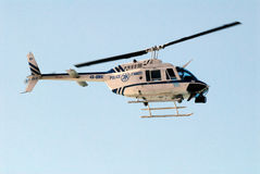Police helicopter Stock Photo