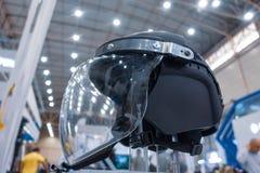 Police helmet with shockproof glass visor