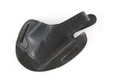 Police Holster. On White royalty free stock image