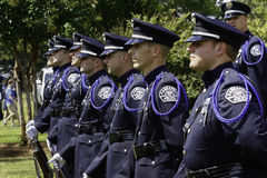 Police Honor Guard at 9 11 Ceremony Royalty Free Stock Photos