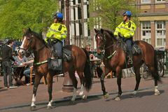 Police on horse Stock Images