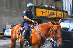 Police on horse in New York Stock Photos
