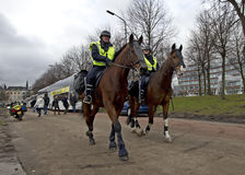 Police on Horseback Royalty Free Stock Image