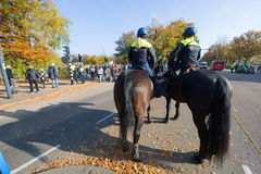 Police on horseback Royalty Free Stock Photos