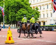 Police on horseback in London, hdr Stock Photography