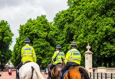 Police on horseback in London, hdr Royalty Free Stock Photography