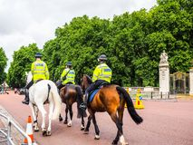 Police on horseback in London, hdr Royalty Free Stock Photos