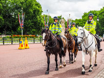 Police on horseback in London (hdr) Royalty Free Stock Photo