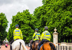 Police on horseback in London (hdr) Royalty Free Stock Images