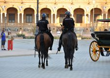 Police on horseback Stock Image