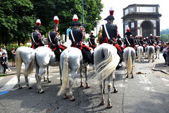 Police on horseback for two hundred years Royalty Free Stock Photos