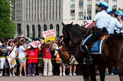 Police on Horseback at White House Stock Photography