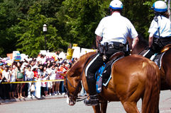 Police on Horseback at White House Stock Photos