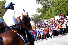 Police on Horseback at White House Royalty Free Stock Photo