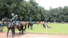Police horses event stock video