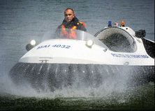 Police hovercraft Royalty Free Stock Photos