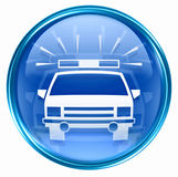 Police icon blue Stock Images