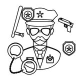 police icon image Royalty Free Stock Photos