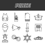 Police icon set Royalty Free Stock Images