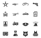 Police icon set. Police web icons for user interface design Stock Image