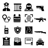 Police icon. Vector illustration Graphic Design Stock Photography
