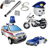 Police Icons Royalty Free Stock Images