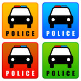 Police icons Royalty Free Stock Photos