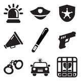Police Icons. This image is a vector illustration and can be scaled to any size without loss of resolution Royalty Free Stock Photography